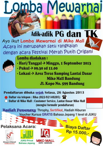 Flyer Lomba Mewarnai Miko Mall 1 September 2013_resize