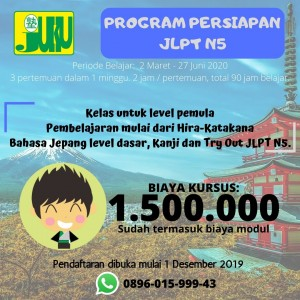 PROGRAM PERSIAPAN JLPT N5